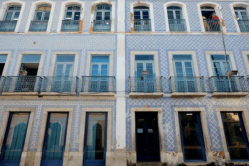 サンルイス(Sao Luis)の藍いタイル