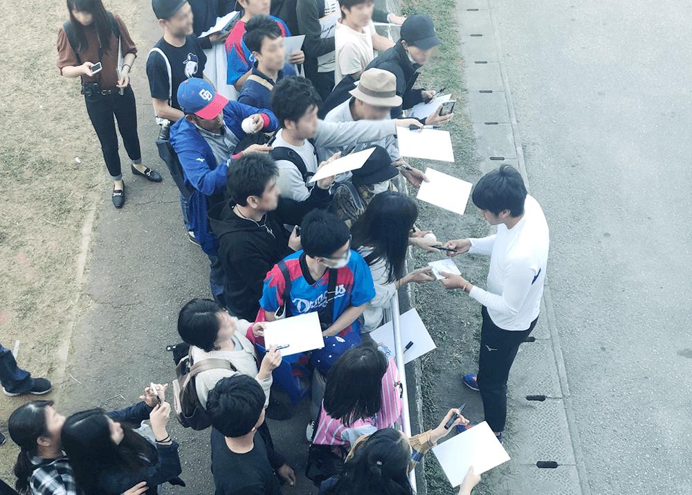 中日ドラゴンズキャンプ@読谷球場