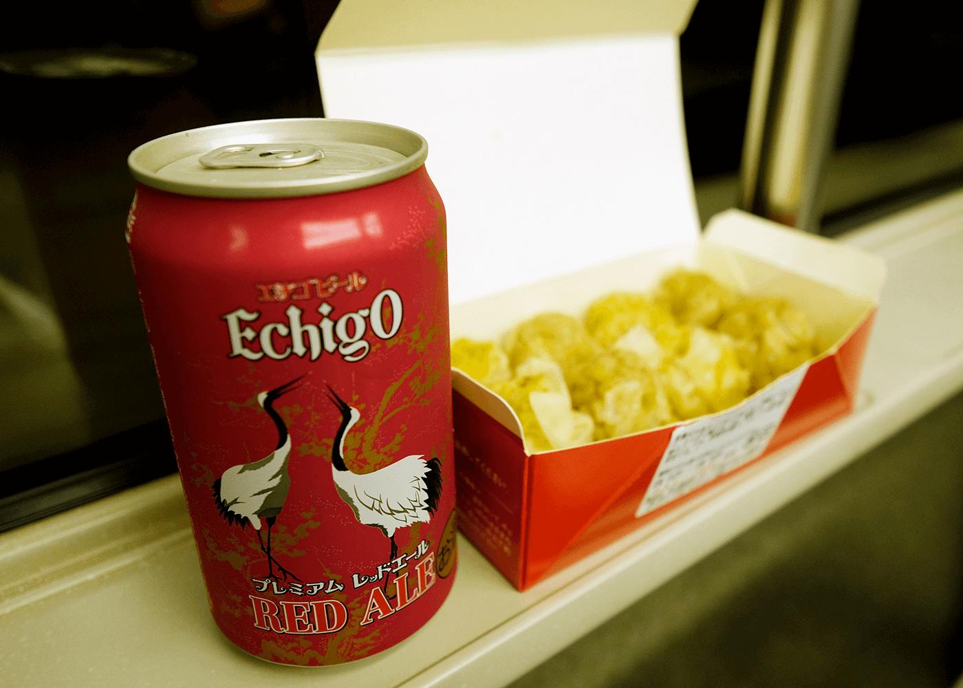 マイクロブルワリー を訪ねて(4)新幹線の中でクラフトビール
