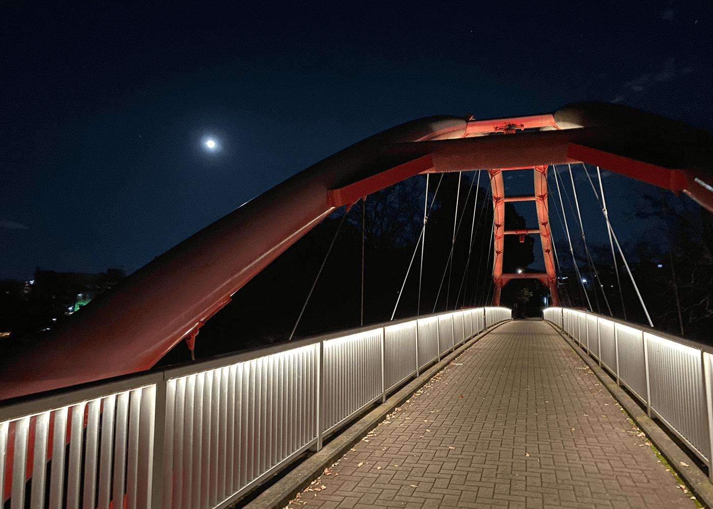 飯能大橋を渡る